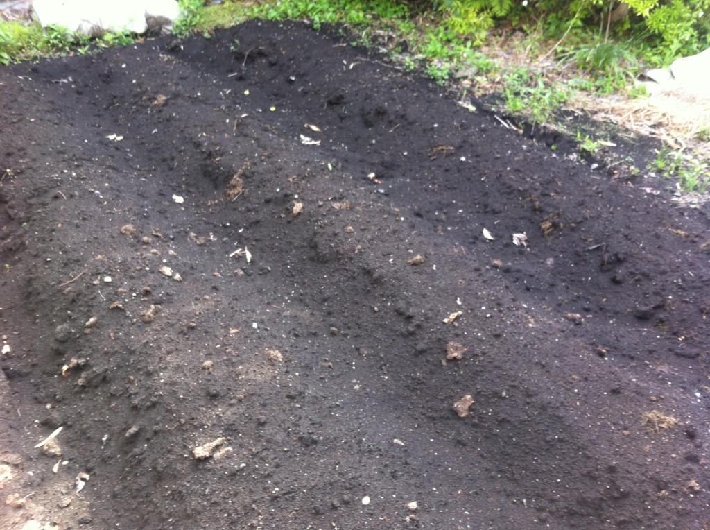 植え付け前の土づくり(5月中旬)